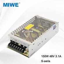 Yueqing mingwei factory constant voltage switching power supply 150W 48 volt 3.2A S-150-48