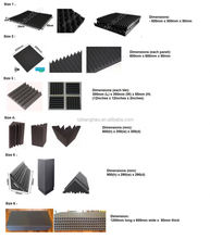 Factory Price Pyramid Shape Studio foam rubber acoustics