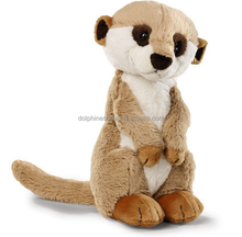 Cartoon Stuffed Animal Plush Meerkat Soft Toy Custom Lifelike Kids Brown Mongoose Plush Toy