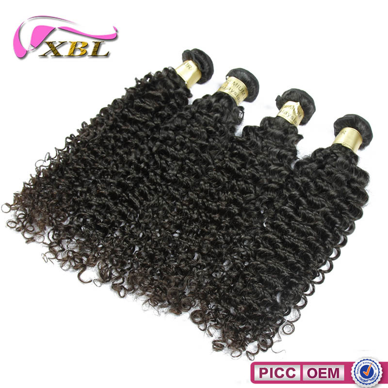 XBL hair 8A high grade popular hairstyle curly virgin remy hair bundles