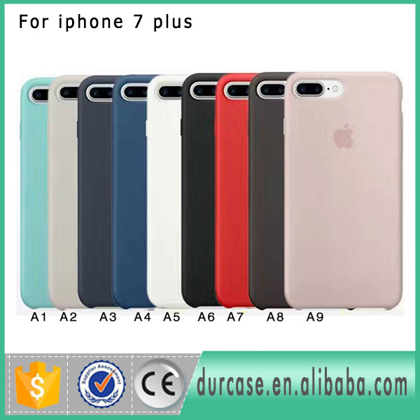 2017 New Gule Silicone Rubber Mobile Phone Case For iphone 7 plus 7plus Original Back Cover With Logo