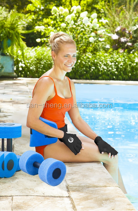 Floatation belt and barbells water workout set