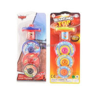 Hot products kids favorite plastic launch super spinning top toys with light music