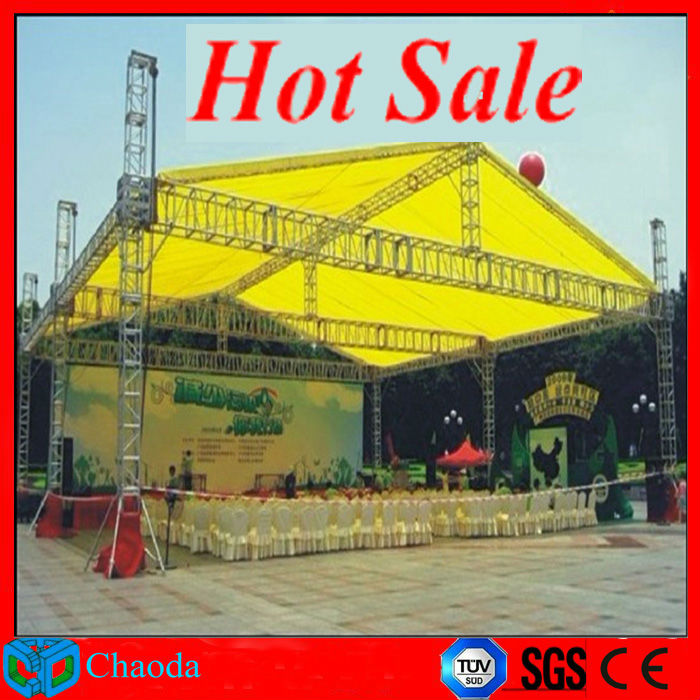 Guangzhou China outdoor event stage truss metal roof truss structure