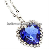 Royal Blue Heart of the Ocean Necklace