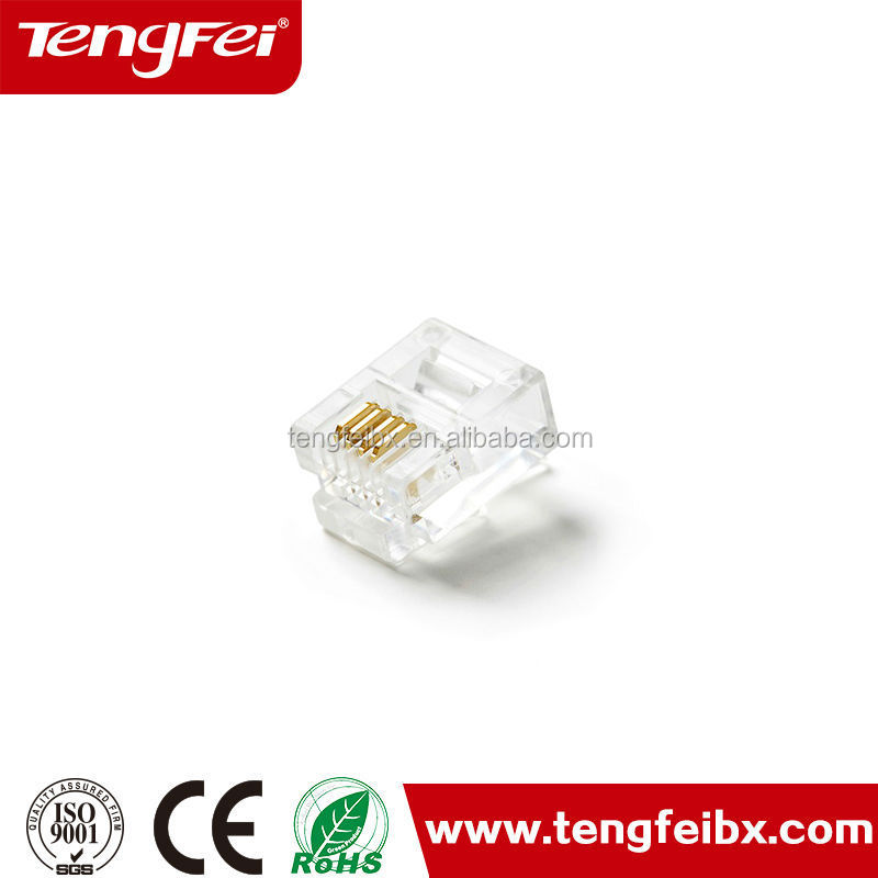 Telephone cable 4p4c 6p2c 6p4c with 4core plug