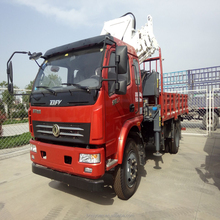 10 tons truck mounted crane with telescopic boom for sale