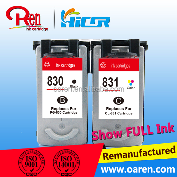 14 years factory Compatible ink cartridge for canon 831 printer inkjet cartridges with superhigh quality