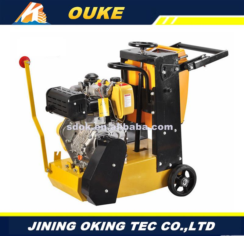 walk behind gasoline asphalt concrete road cutter