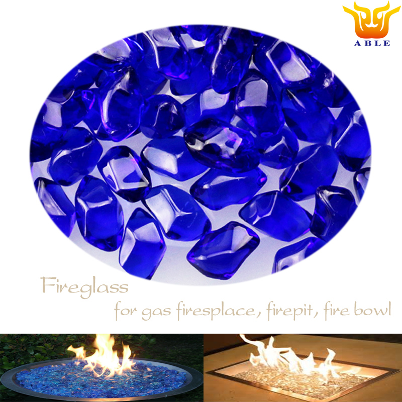 Fire glass for gas firepit table bowl