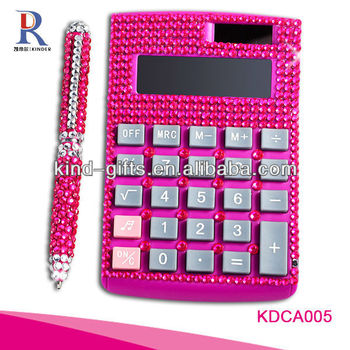 Customer Design Rhinestone Diamond Promotional Cheap Calculators For Sale Manufactory|Factory|Exporter
