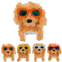Electronic Plush Toy Walking Barking Dog Puppy With Colorful Glasses