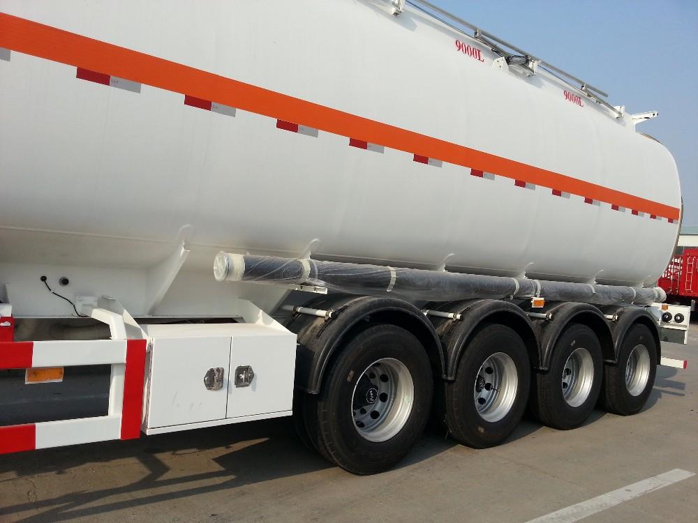 4 achse Tanklastwagen Öl Diesel Transport Lkw Halbtankauflieger Zum ...