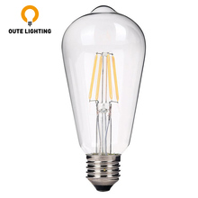 Low Cost 4 Watt Led Filament Lamp Glass Cover Light Bulb