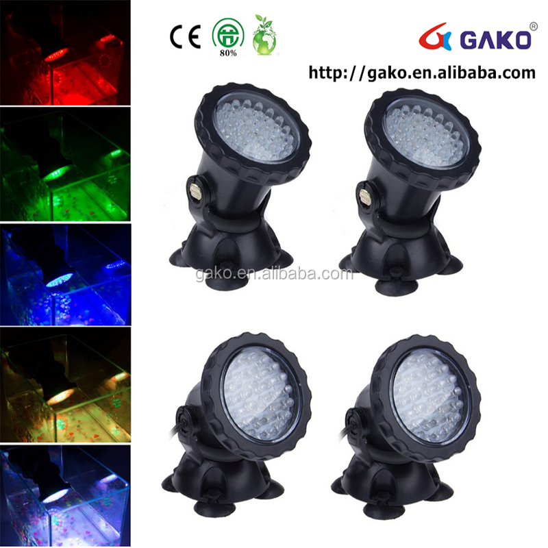 201570*95mm gako high quality LED Underwater Spot Light 9W Lamp RGB Bulb + Remote for Aquarium Pool