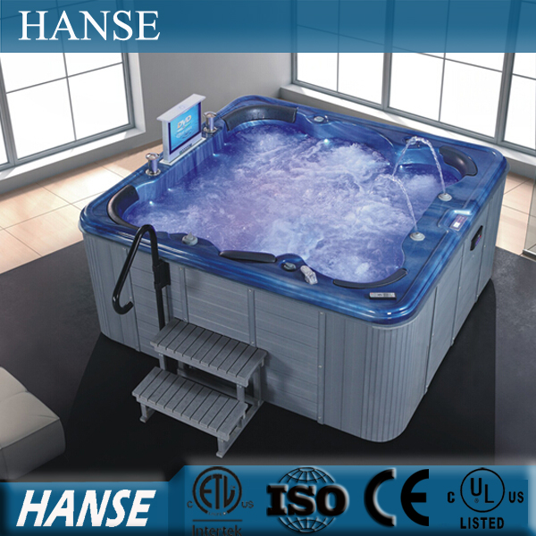 HS-SPA016 6 person outdoor spa whirlpool hot tubs a096/ pop-up speakers outdoor spa