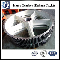 Forged steel manufacturing large diameter double spur gear wheel