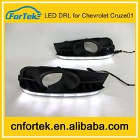 2014 high power LED DRL daytime running lights used for cars chevrolet cruze accesorios,100% waterproof&safty installation