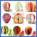 Custom 3D Memo Pad /Fruit Shape Memo Pad /3D Fruit Notepad