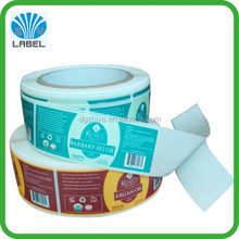 custom argan oil sticker roll adhesive cosmetic sticker albel printing plastic bottle label