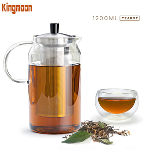 1200ml / 40oz Glass Teapot Kettle with Infuser Set Stovetop Warmer Tea Pot with Stainless Steel Strainer for Loose Leaf Tea