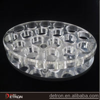 acrylic round clear drink display base