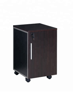 Stock Cheap price mobile Single door cabinet filing cabinets display showcase cabinet with wheels