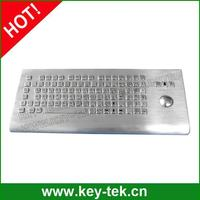Weatherproof outdoor stand alone keyboard with 38mm mechnical trackball