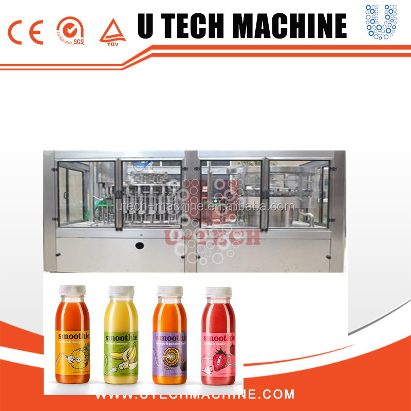 Full Automatic Pet Glass Bottle Fruit Orange Concentrated Juice Hot Filling Production Machine Line Equipment Plant