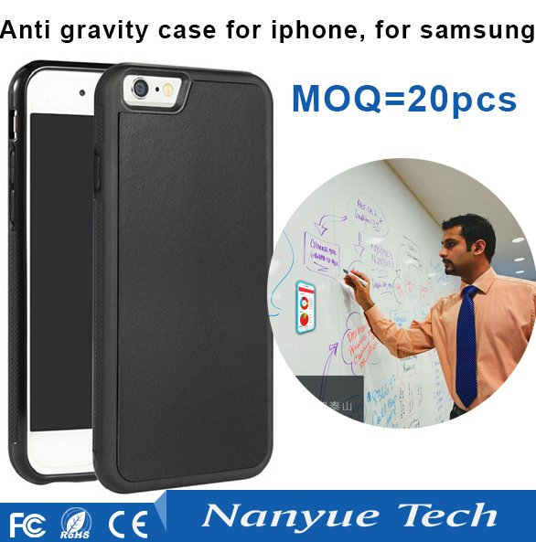 Best quality TPU PC Nanomaterials Anti Gravity phone cover case for iphone 6 6s 7 7 plus