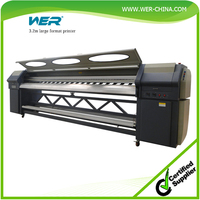 3.2m outdoor advertising tarpaulin printer with speed of 56m2/h tarpaulin printing machine