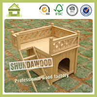 SDD01 Pet Carrier Small Wooden Dog House