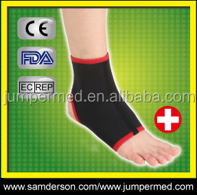 Ankle brace sports, neoprene washable ankle support sock shape, open heel design