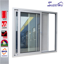 Alibaba china aluminum sliding glass patio door with stainless mosquito screen