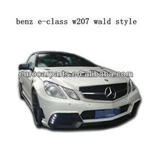 high quality W207 E class W style body kit fitting for benz E class w207 coupe 10~