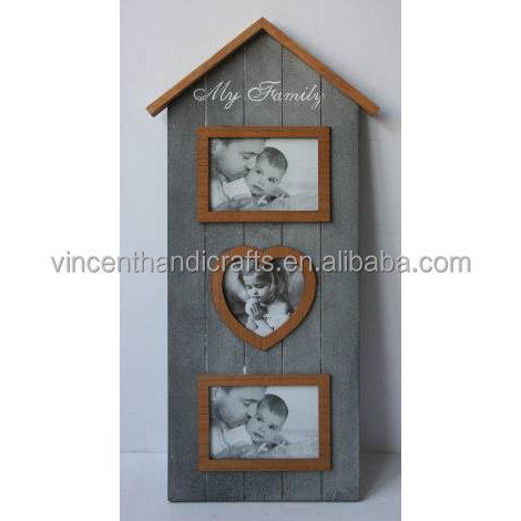 Art shabby wooden photo frame for holiday gift