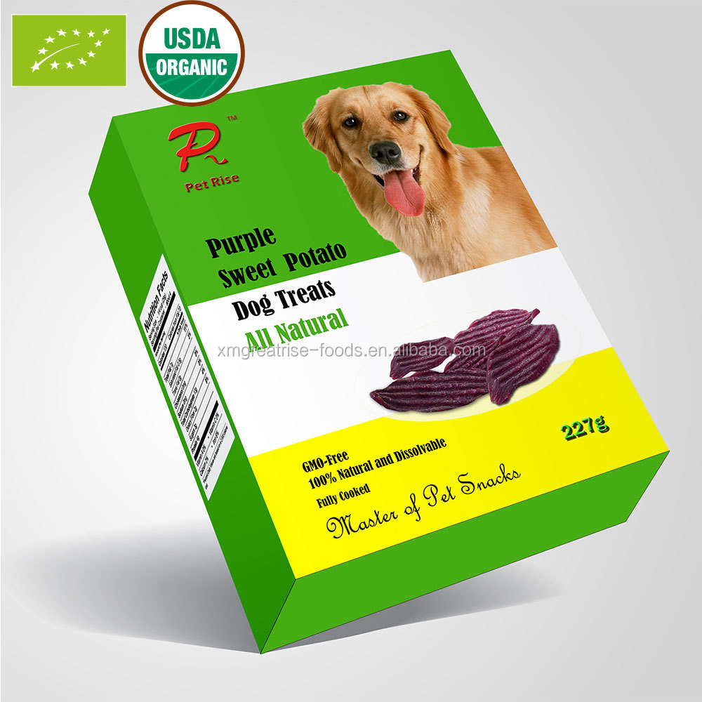 Natural Gluten Free Food Sweet Potato as Dry Dog Food Pet Snacks High Anthocyanin