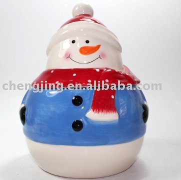 Wholesale Ceramic Christmas Candy Jar