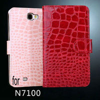 croco leather cases for galaxy note2, leather case for samsung galaxy note 2, for samsung galaxy note 2 credit card case
