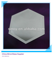 SINOY unframed beveled edge hexagon shape silver mirror tiles