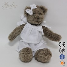 Soft Stuffed Animals Promotional Bear Teddy with Clothes Dressing at Alibaba.com