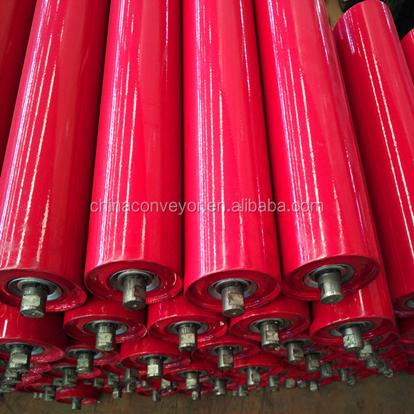 Easy to install Conveyor Carrier Flat Idler Roller(biggest factory)