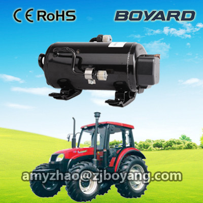 R134a zhejiang boyard 12v 24v dc fridge compressor electric car <strong>ac</strong> compressor for trane air conditioners