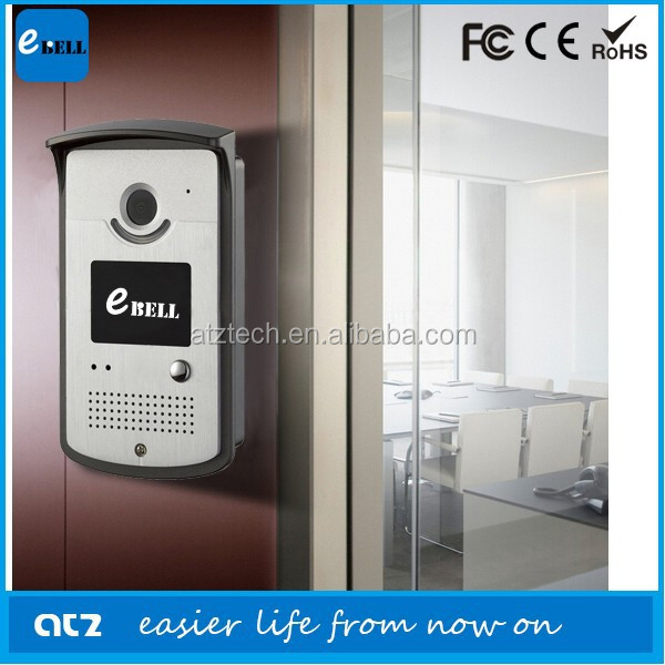 ATZ eBELL smart home secuirty digital door peephole viewer with audio video snapshot