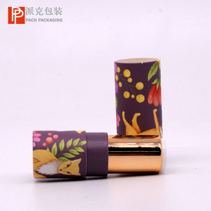 Simple Colorful Mini Paper Make Up Lipstick Tube with Plastic Rotated Tube