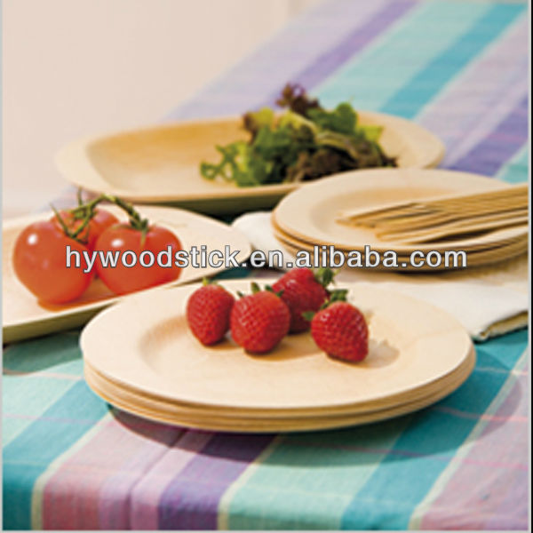 Eco-friendly Light Disposable Picnic Wooden Fruit Dishes