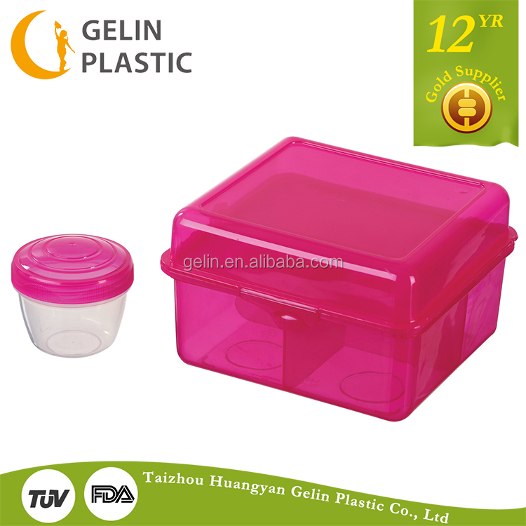 GL9801 biodegradable lunch box rectangular plastic lunch box lunch boxes