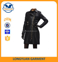 fashion sexy suitable high quality woman windbreaker made of synthetic leather
