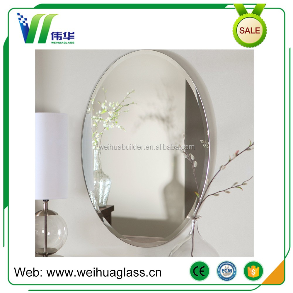 China Mirror Factory Custom Size Frameless Bathroom Mirror for Decorative