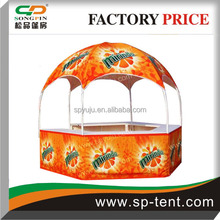 domed temporary hexagonal exhibition display booth, large tent for sale